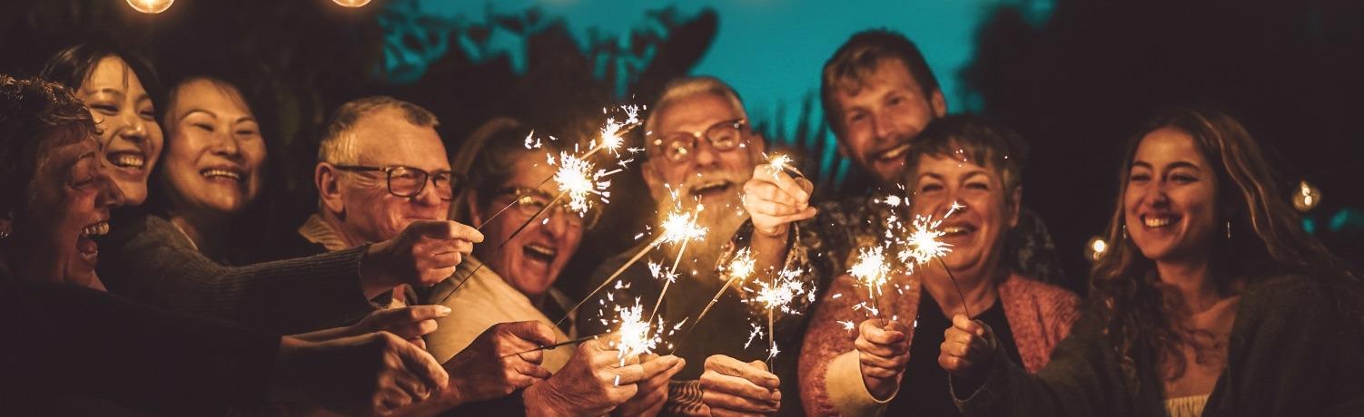family-celebrating